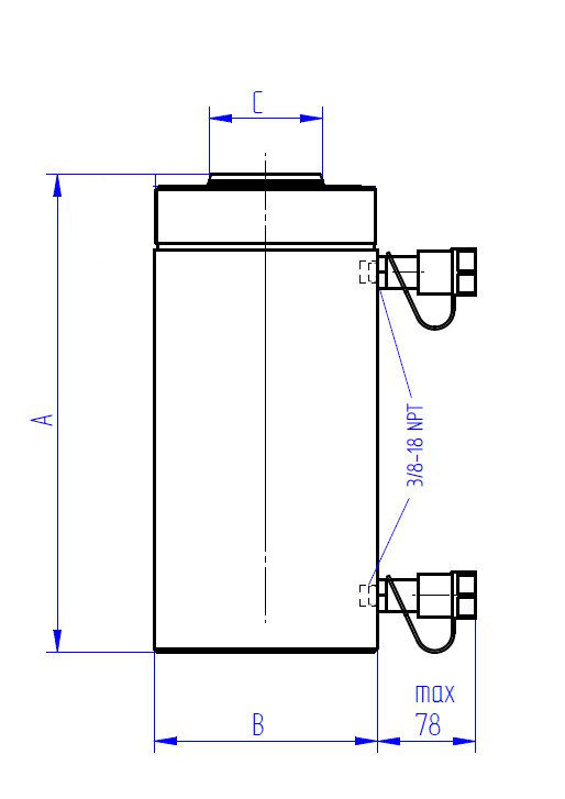 dwz-double-acting-hydraulic-jacks-drawing